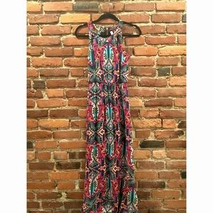 Printed colorful maxi dress